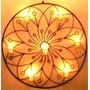 Mandala Flor De Lotus Decoração Parede Em Ferro Velas 70 Cm