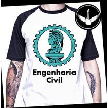 Camiseta Engenharia Civil Curso Universitária Profissão