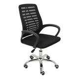 Cadeira De Escritório Trevalla Cde-34-1 Ergonômica Preta Con Estofado Do Malha
