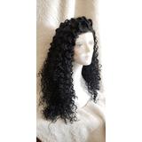 Peruca Orgânica Front Lace Wig Cacheada Ombre Hair Repartição Livre 4x4 + Touca Wig De Brinde