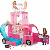 Mega Trailer Da Barbie Mattel Barbie Pop-up Camper + Barbie