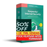 Kaspersky Internet Security 2019 3 Pc 1 Ano Entrega Em 30min