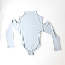 cbc0ad6b7 Body Manga Longa Feminino Blusa Collant Ombro Cavado 043 à venda em ...