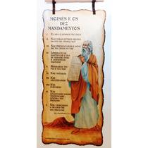 Pergaminho Moises E Os 10 Mandamentos - Produto Exclusivo