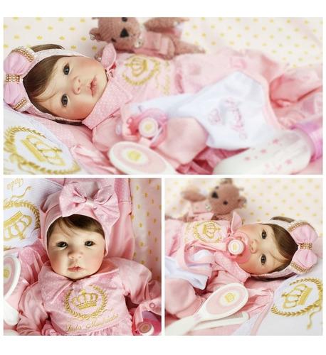 Bebê Reborn Boneca Promoção Rosa 299+bolsa Maternidade
