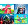 Painel De Decoração Festa 2,40x1,80 Frozen E Outros Temas