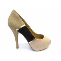 Sapato Peep Toe Ramarim 1280203 ** Promoção**