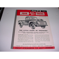 Folder Ford Picape Pickup F-3 F3 Comercial 48 49 50