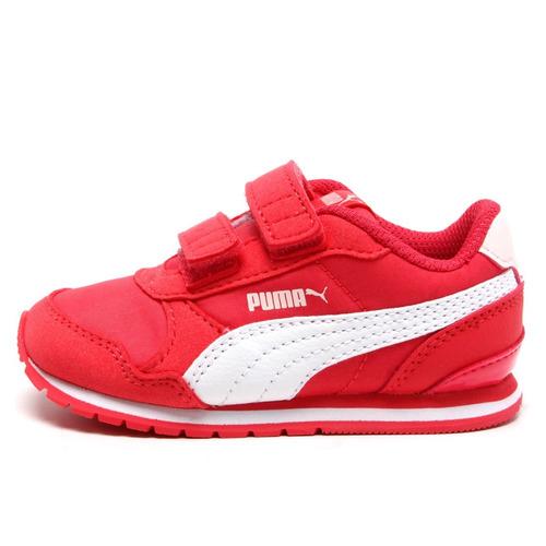 505f503915 Tênis Puma St Runner V2 Nl Pink Branco Feminino Infantil