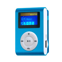 Mini Mp3 Player Tela Lcd + Fm Shuflle Clip Entrada Micro Sd