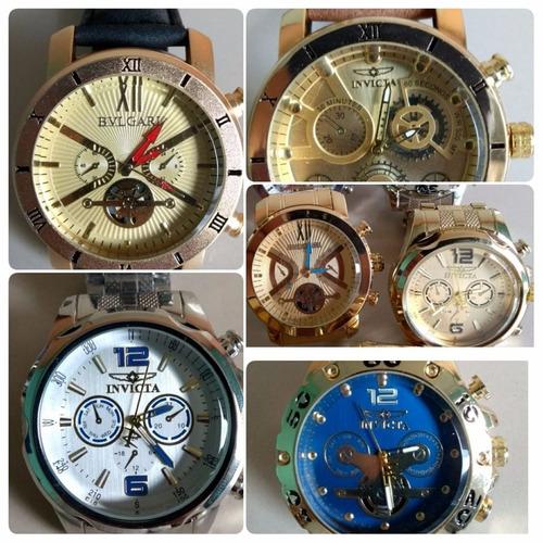 e8cd3aee2f9 Kit 5 Relógio Masculino Dourado Luxo Atacado E Revenda