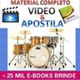 Curso Bateria Baterista Videos + Apostilas + Brindes C $3,99