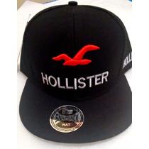 Promoção Boné Hollister Preto Aba Reta Com Regulagem 50% Off