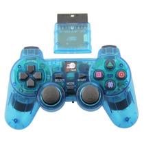 Controle Sem Fio Playstation 2 2.4ghz Dualshock Ps2 Azul