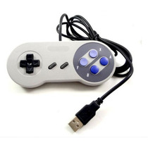 Controle De Super Nintendo Usb Para Pc Snes