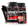Kit 2x Whey Protein   Bcaa   Creatina   Brinde