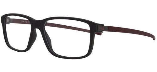 Armação Oculos Grau Hb 9314284733 Preto Vermelho Fosco 85a7b90ff4