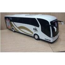 Onibus Brinquedo Miniatura Iveco Corinthians 45 Cm Menino