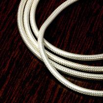 Corrente Prata 925 Masculina Rabo De Rato 60cm-2,5mm-15,5gr