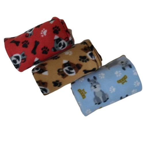3 Cobertores Soft 75 X 90 Cm Diversas Cores Cães E Gatos