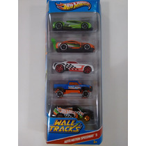 Conjunto Hot Wheels C/ 5 Carrinhos - Auto Motion Speedway