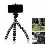 Mini Tripe Flexível Suporte Universal Para Câmera E Celular