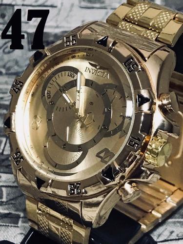 7cb2cb22e6b Relógio Masculino Prata Dourad Branc Relógio Top Fotos Reais
