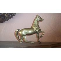 Estátua Cavalo Em Bronze Antiga