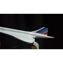 Maquete Avião Concorde Resina - Air France Grande 41cm