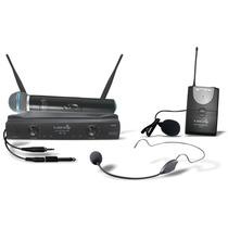 Microfone Sem Fio Uhf Mão Headset Lapela Instrumento Lyco