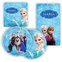 Kit Digital Frozen Lembrancinha Festa Aniversario P Imprimi