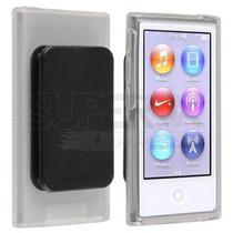 Capa Ipod Nano 7 Transparente Com Clipe + Película Protetora