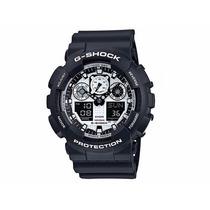 Relógio Casio G-shock Ga-100bw-1adr Nota E Garantia
