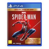 Homem Aranha Spider Man Goty Jogo Do Ano Ps4 Mídia Física
