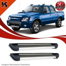 Estribo Lateral Alumínio Bepo P/ S10 94 A 11 C/ Kit Fixação