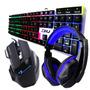 Kit Gamer Haiz Teclado Mouse E Fone Headset 5.1 Led Hz18