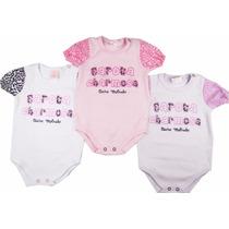 Roupas Bebê Com 3 Bodies Bicho Molhado Lindo