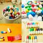Kit Com 50 Mini Cápsulas Pílulas Mensagens De Amor Novidade