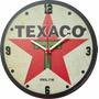 Relógio Decorativo Texaco Mdf Em Alto Relevo Corte Laser Original