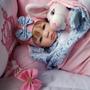 Bebe Reborn, Menina, Barata, Promoçao Azul Com Rosa