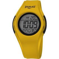 Relógio Unissex Everlast Digital Esportivo E415 Amarelo/pret