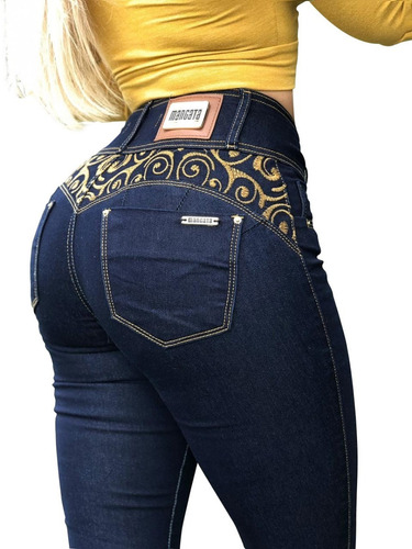 ed8aa4e22 Calça Jeans Feminina Cintura Alta Premium Estilo Pitbull à venda em ...