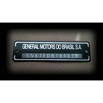 Plaqueta Nº Chassi P/ Chevette Placa General Motors Brasil