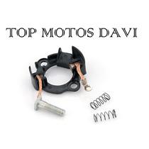 Escovas Motor Partida Com Suporte Moto Honda Cg 150 Fan 09