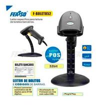 Leitor De Boletos F-boletos52 E Cod. Barras C/ Suporte