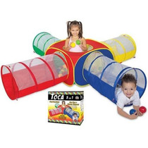 Toca Infantil 5 Em 1 - Tunel Braskit Com 100 Bolinhas