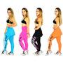 Calça Com Saia Legging Suplex Fitness Academia Ginastica