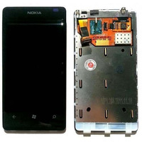 Vidro Tela Touch Screen + Display Lcd Nokia Lumia 800 Origin