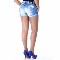 Sawary Short Jeans Modela E Levanta Bumbum Com Bojos Sabrina