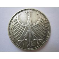 Alemanha Moeda Prata 5 Deutsche Mark 1951 J